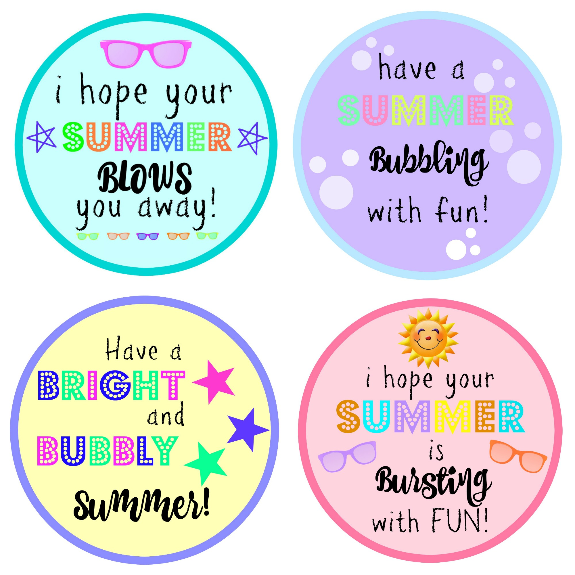 End of Year Gift: Bubbles with FREE Printable - Moms ...