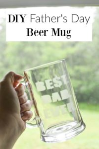 DIY Father's Day Beer Mug- this project is perfect for any dad. Easy and super fun. The kids can even help!