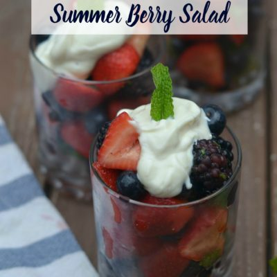 Honey Lime and Mint Summer Berry Salad