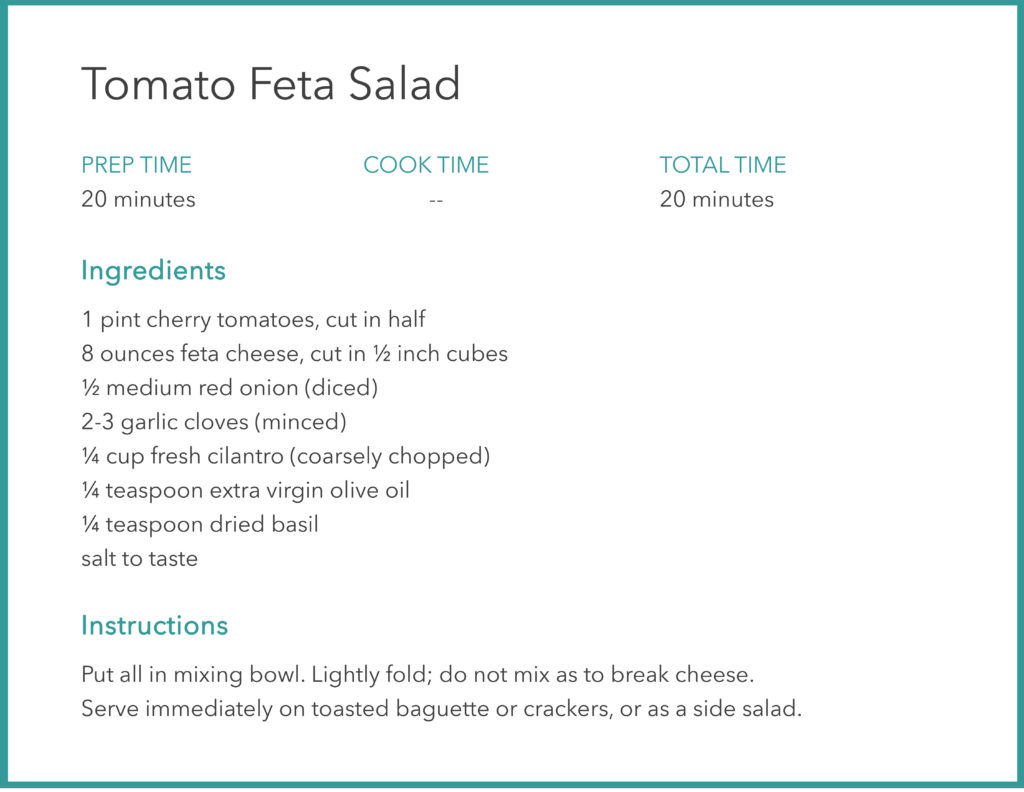 BEST TOMATO FETA SALAD