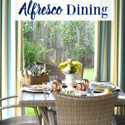 4 Tips for Alfresco Dining