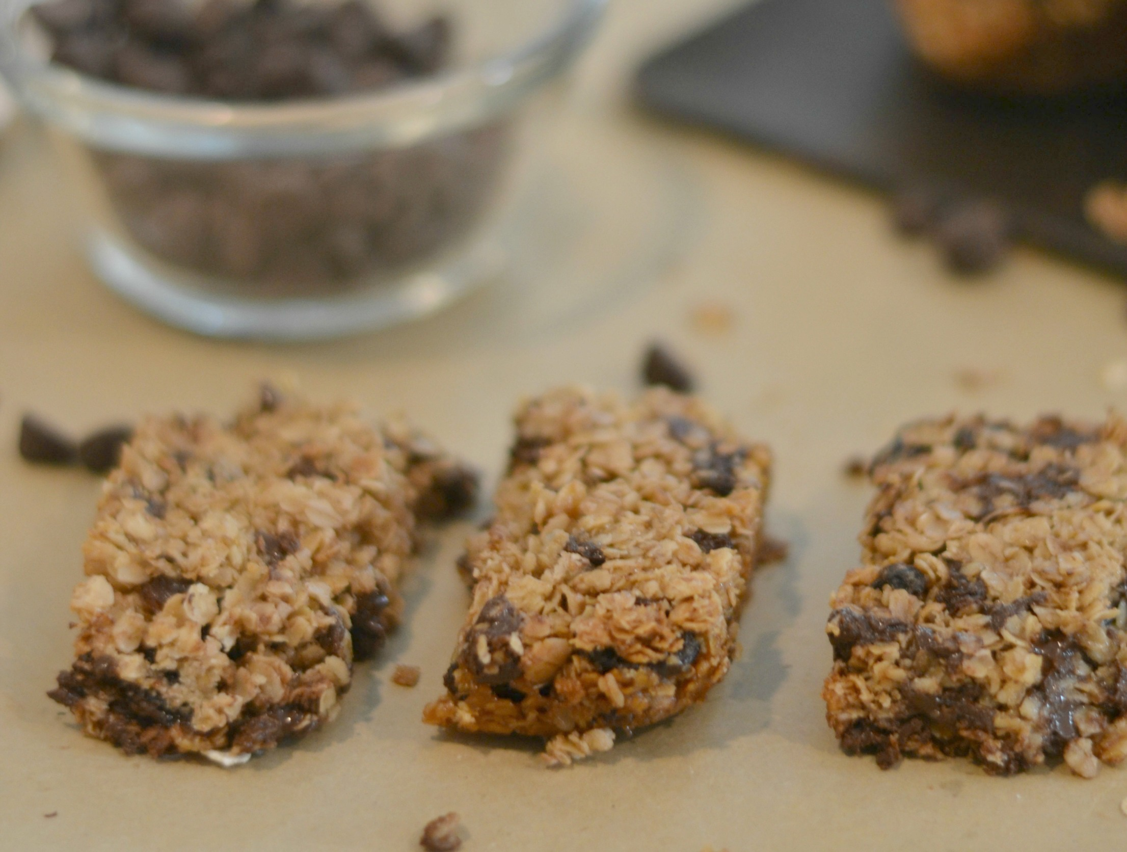 Delicious granola bar recipe and easy to make. These were a hit with my kids!