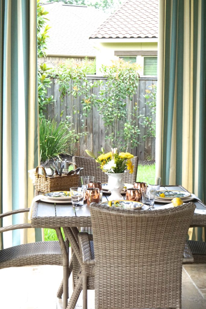 summer entertaining patio picnic outside meal