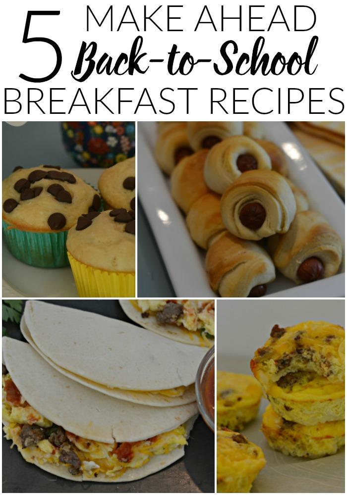 5 Make Ahead Back to School Breakfast Recipes