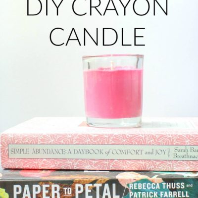 Back to School Teacher Gift: DIY Crayon Candle