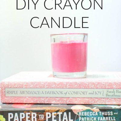 Back to School Teacher Gift: DIY Crayon Candle