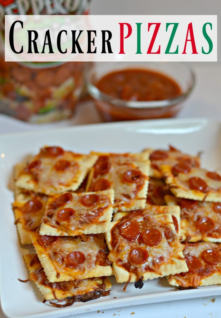 Cracker Pizzas! Perfect after school snack. Easy and delicious snacks.