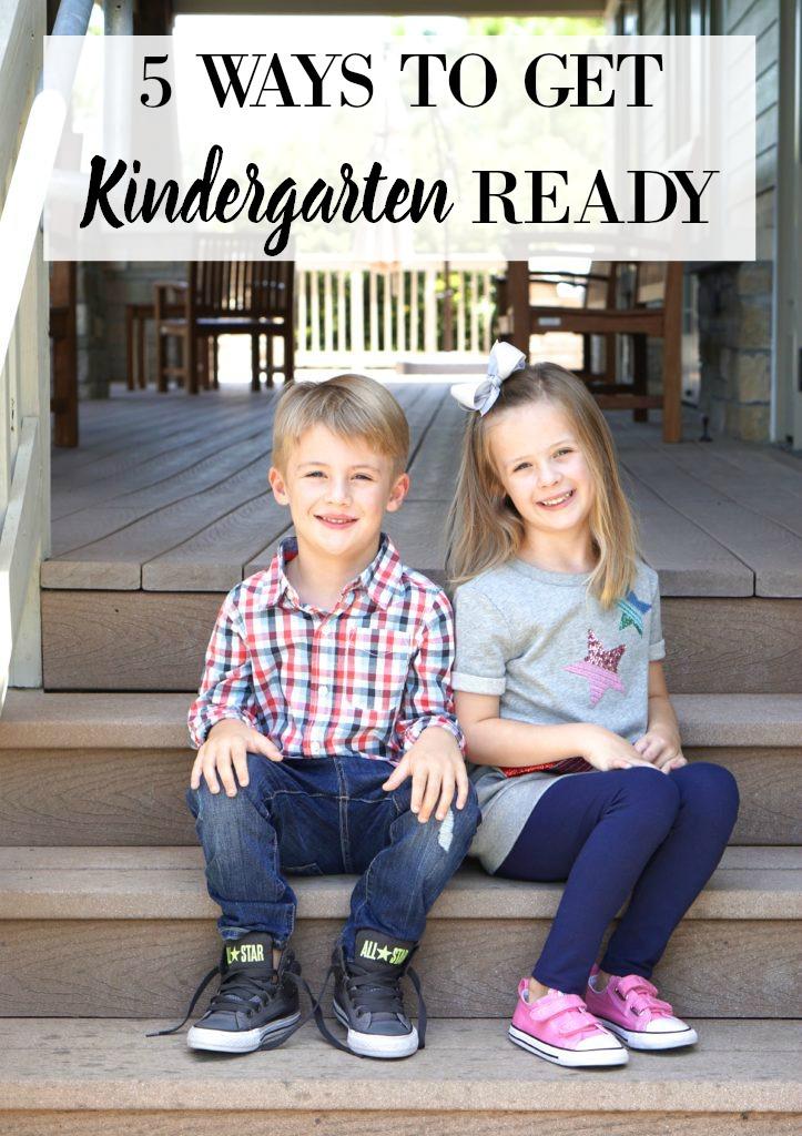 5 WAYS TO GET KINDERGARTEN READY, Back to school, Kindergarten, First day of School
