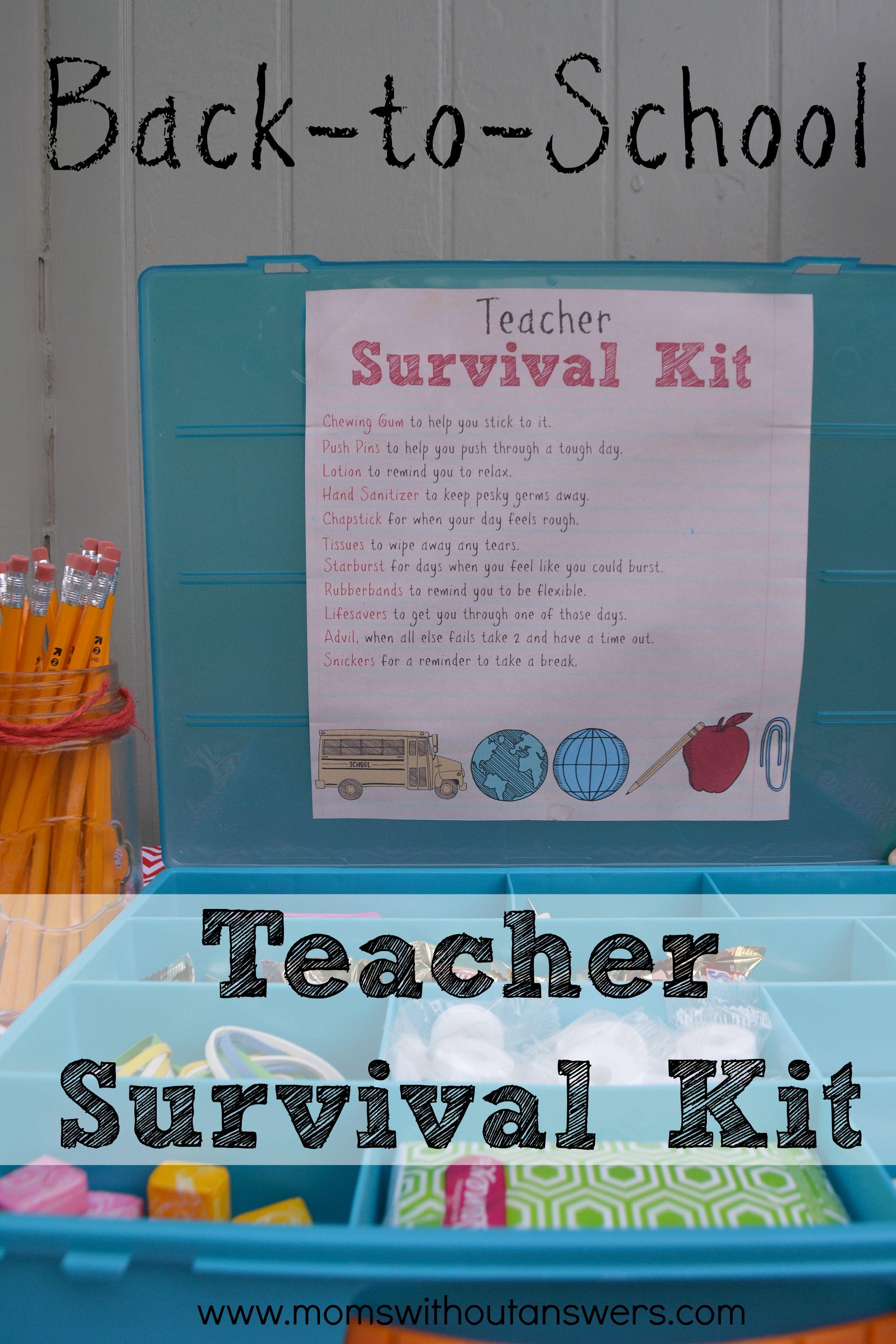 Teacher Gift, Back to school teacher survival kit
