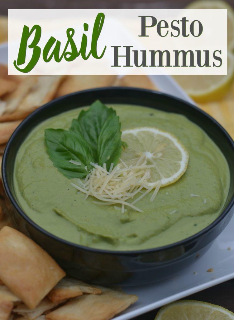 Basil Pesto Hummus - Moms Without Answers