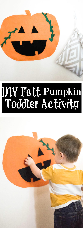 DIY Felt Pumpkin Toddler Activity