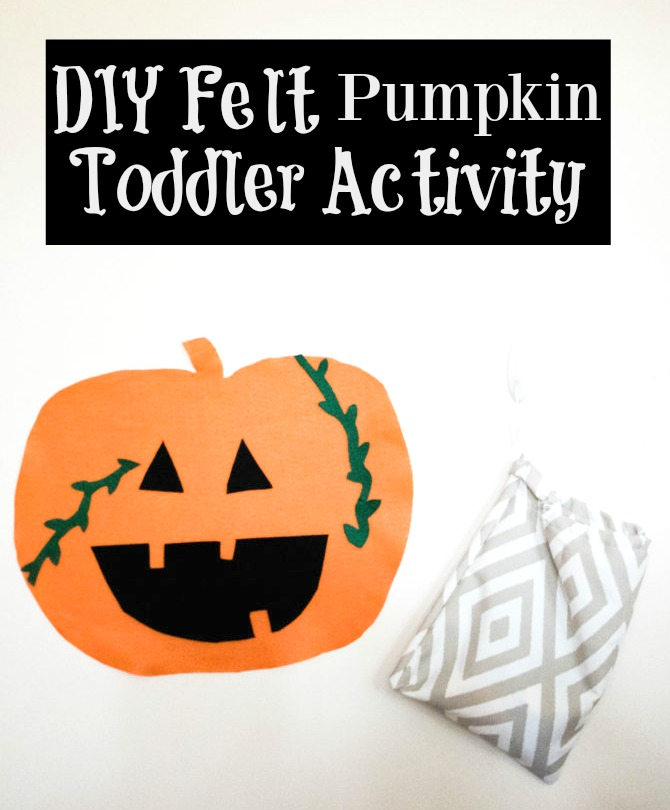 DIY Felt Pumpkin Toddler Activity