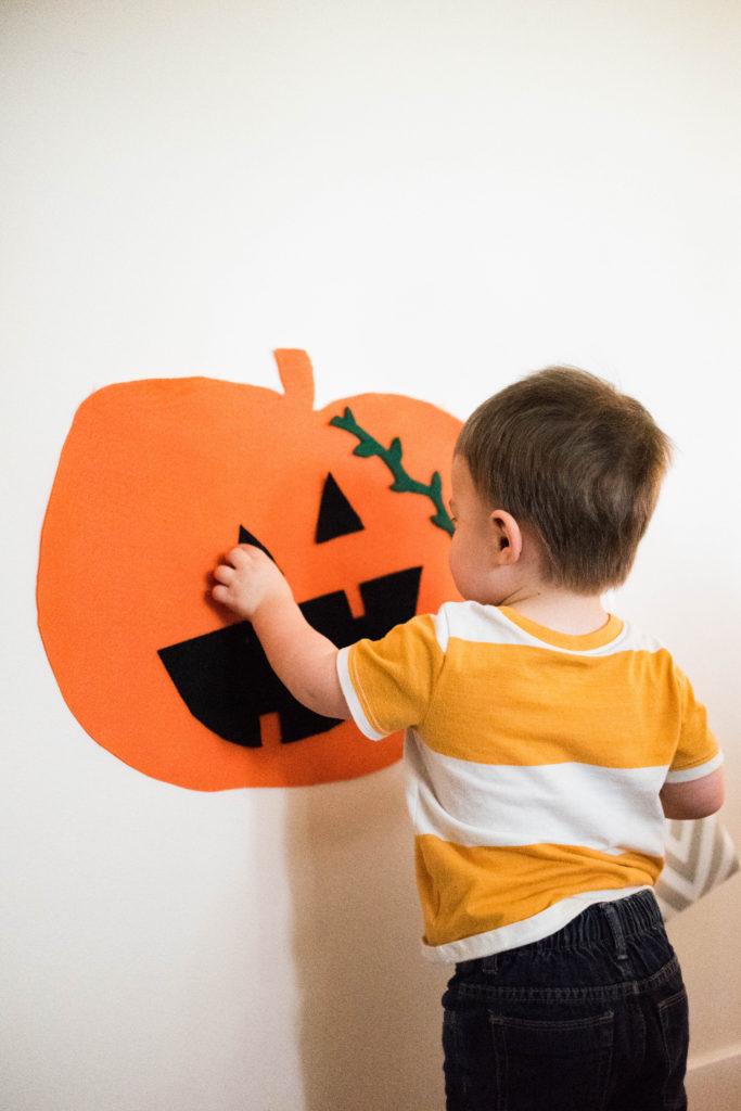 DIY Felt Pumpkin Toddler Activity - Moms Without Answers