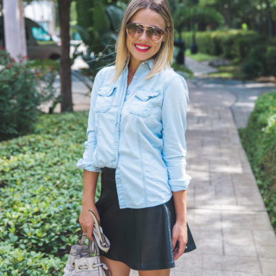 How to wear a leather skirt for the fall