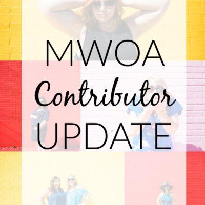 MWOA Contributor Update