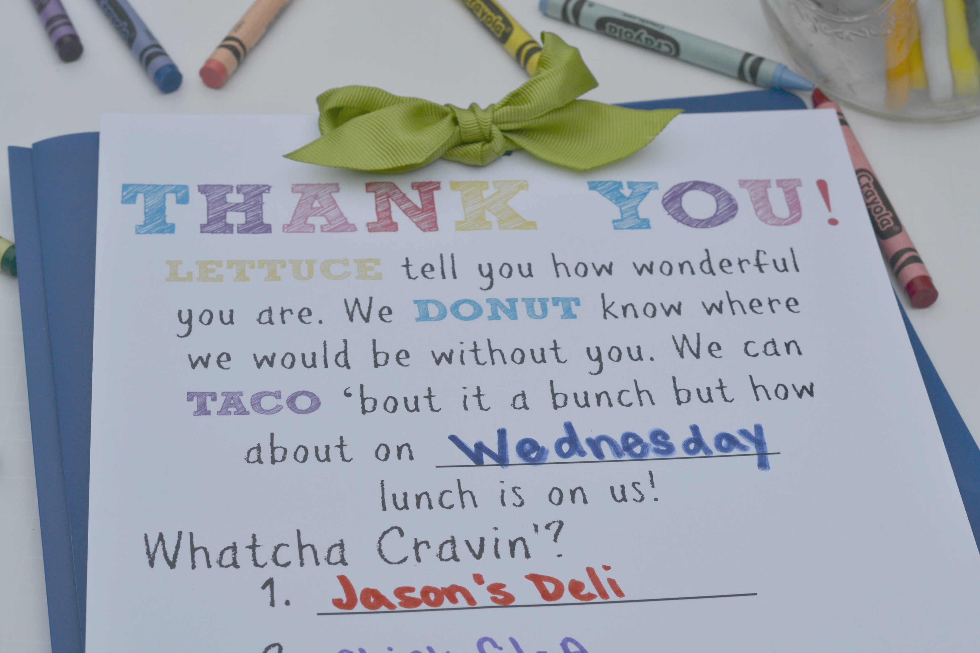 Teacher Gift Lunch Certificate. This teacher gift is perfect for Back to school teacher gifts, End of school teacher gifts or any other occasion. Buy your teacher lunch! Teacher Appreciation Gift.
