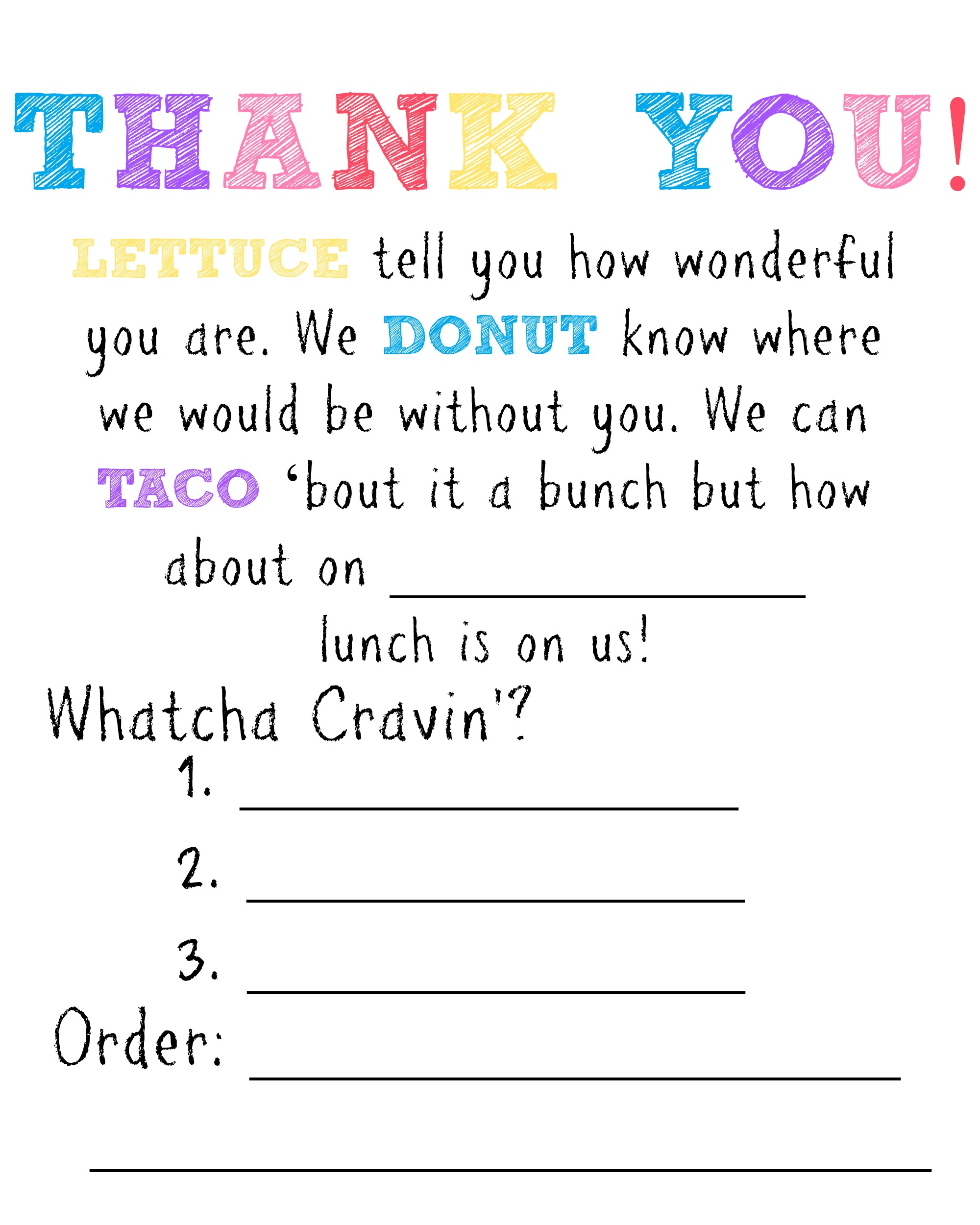 Teacher Gift Lunch Certificate Moms Without Answers