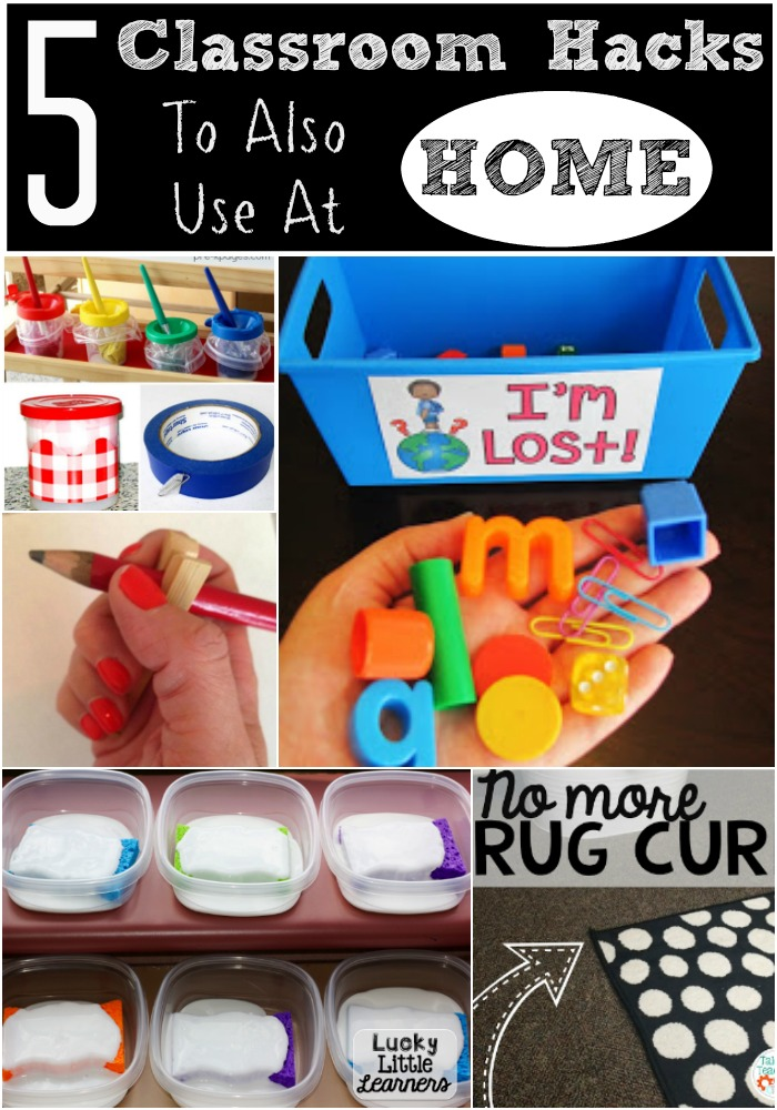 5 Classroom Hacks to also use at home. Genius teacher tips and tricks you can implement into your home.