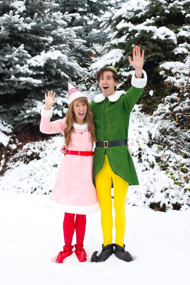 Buddy the Elf and Jovie. Top 10 Funniest Couples Halloween Costumes  sc 1 st  Moms Without Answers & Top 10 Funniest Couples Halloween Costumes - Houston Mommy and ...