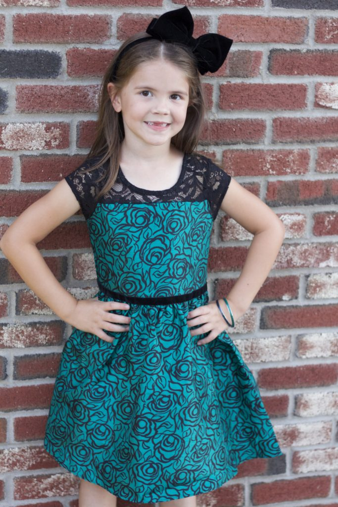 Kids Fashion: Dressy Winter Emerald Tones