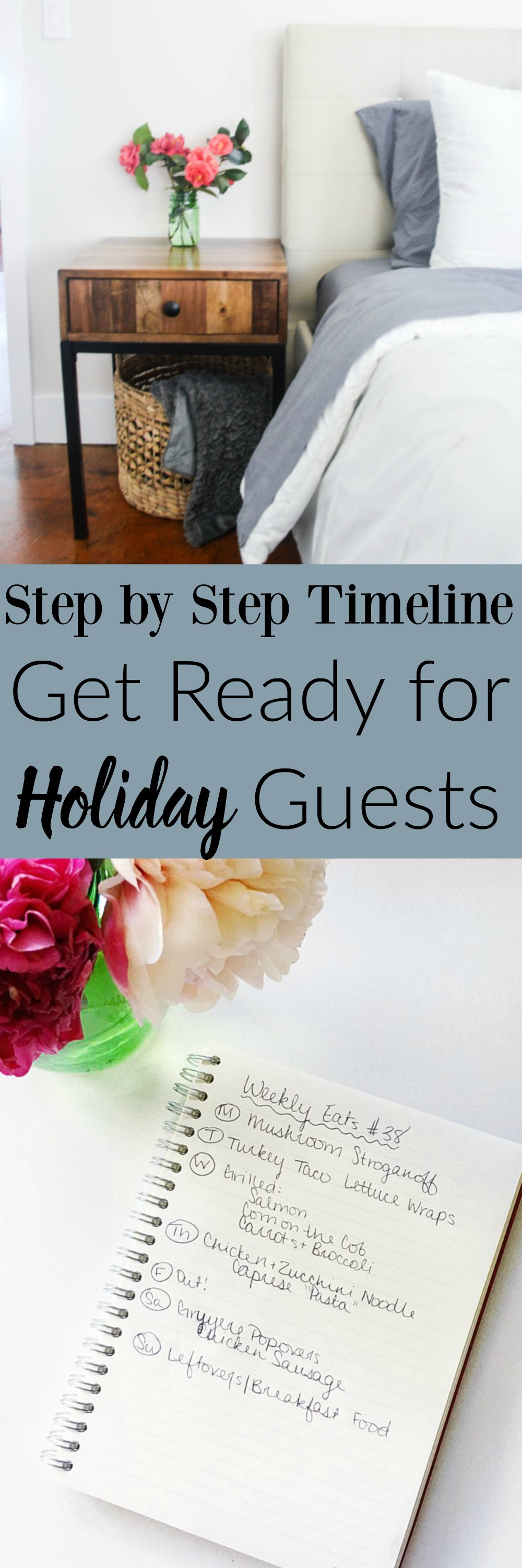Step by Step Timeline to Get Ready for Holiday Guests