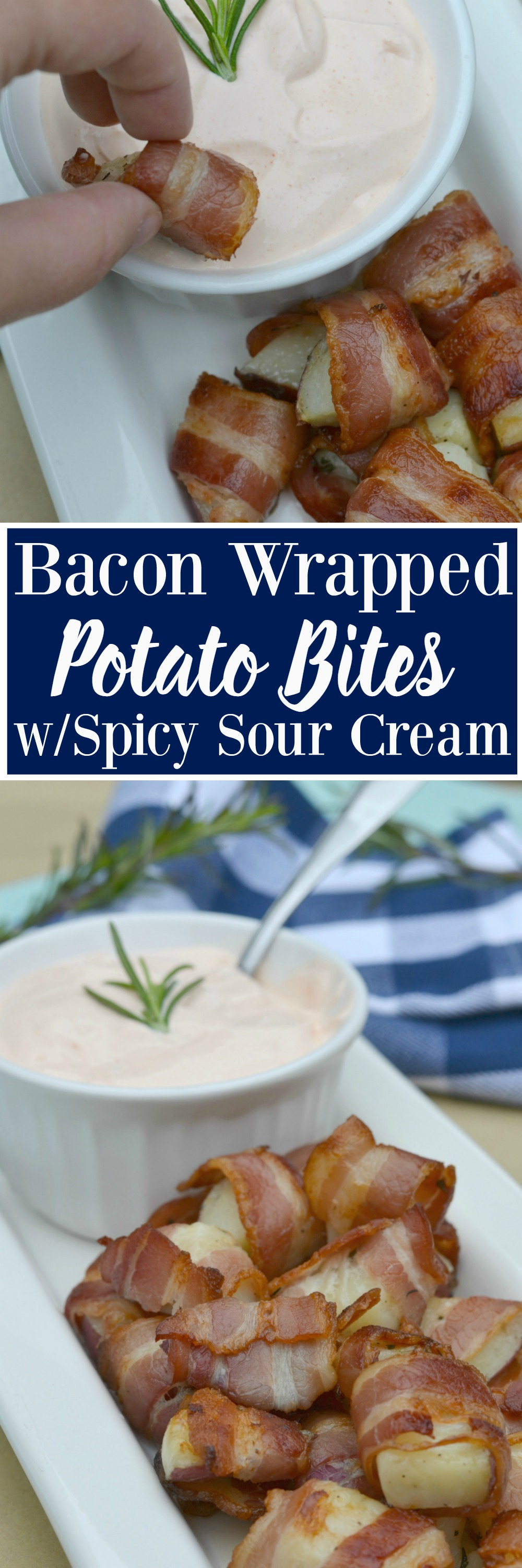 Bacon Wrapped Potato Bites with Spicy Sour Cream Dip - Moms Without ...