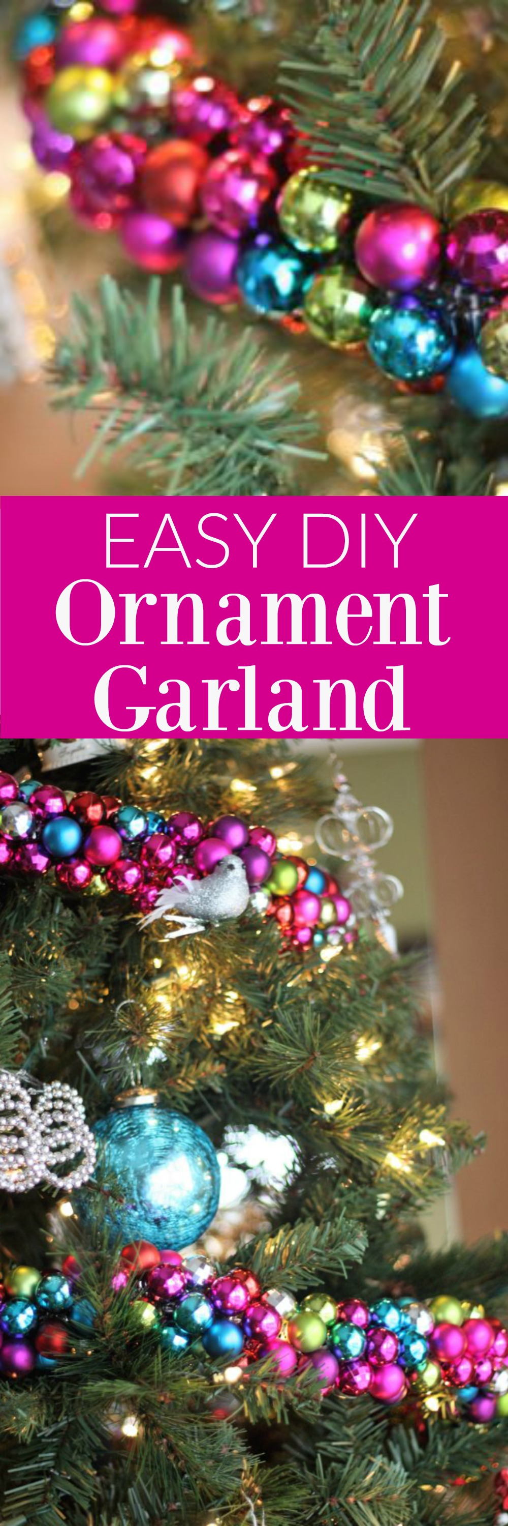 Easy DIY Christmas Ornament Garland