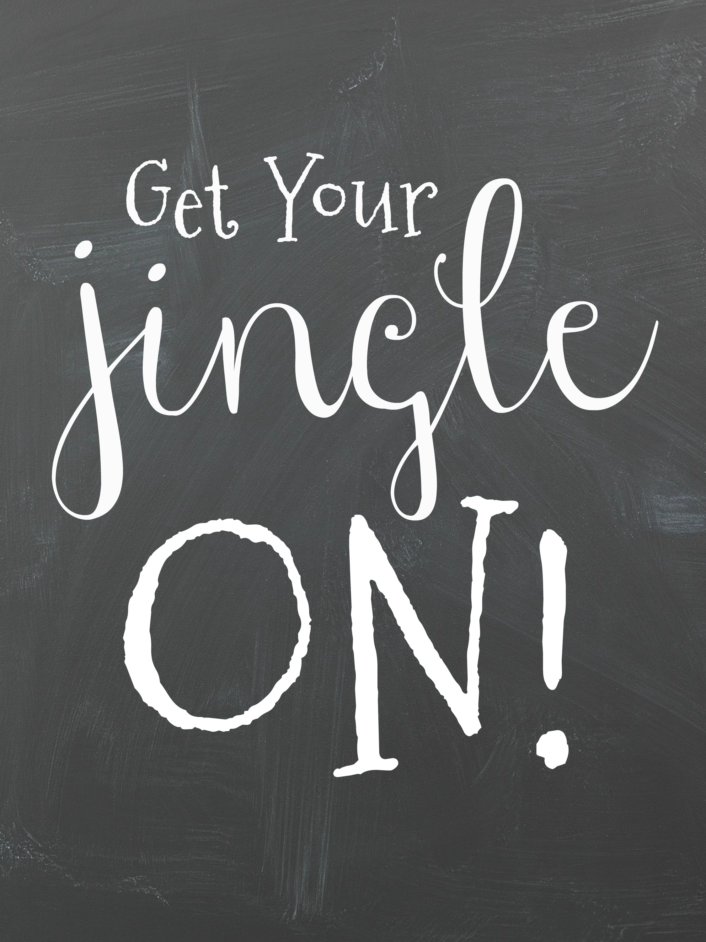Get Your Jingle On Free Chalkboard Christmas Printables! Perfect for a DIY Christmas Gallery Wall.