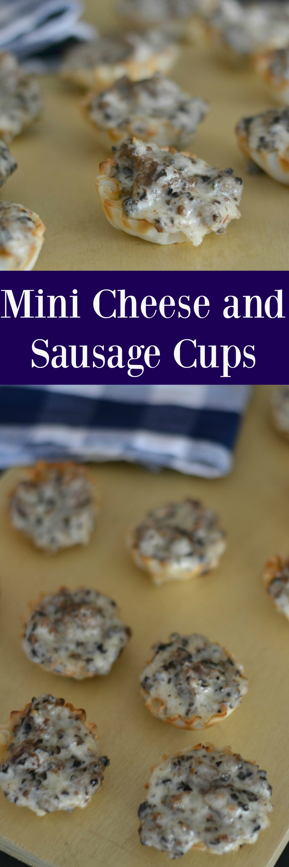 Mini Cheese and Sausage Cups Appetizer