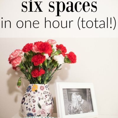 How I Organized 6 Spaces in One Hour (Total!)