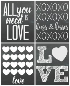 Free Valentine's Day Chalkboard Printables