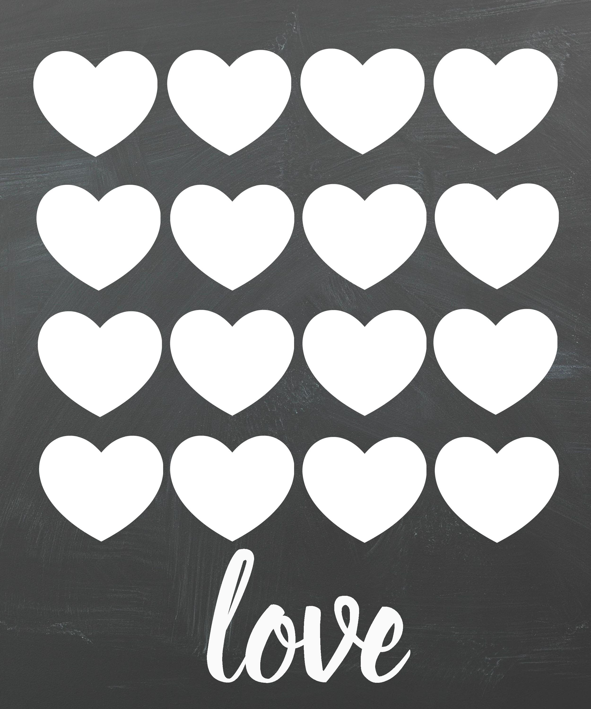 Free Valentine's Day Chalkboard Printables