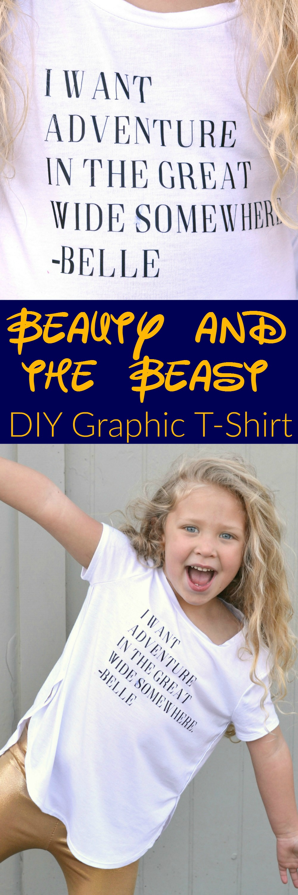 Disney Beauty and the Beast DIY Graphic T-shirt