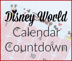 Disney World Calendar Countdown
