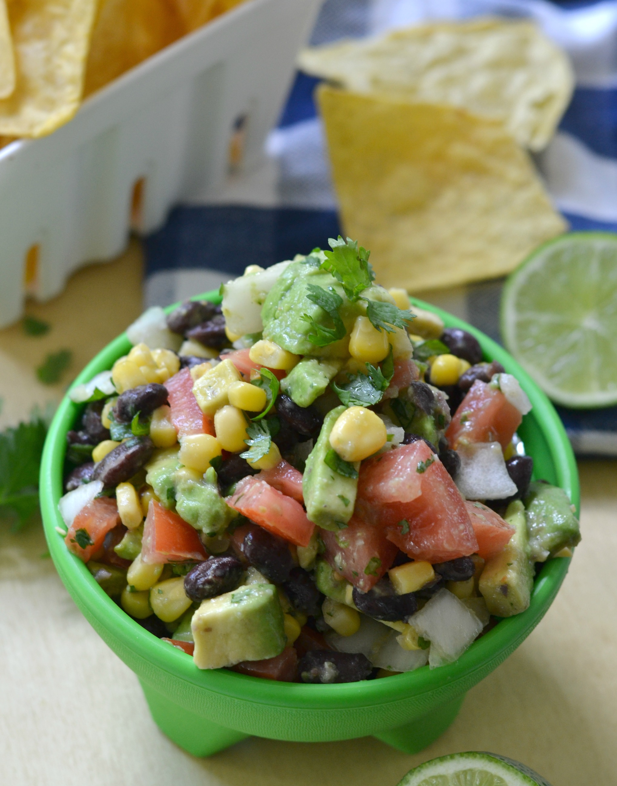 Avocado and Corn Black Bean Salsa