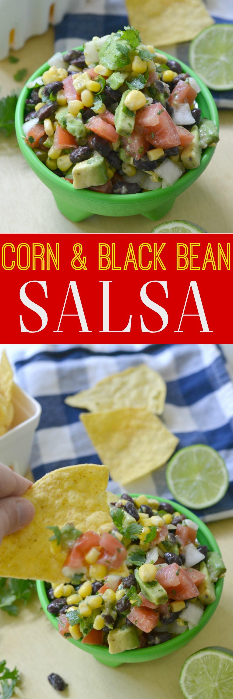 Avocado and Corn Black Bean Salsa