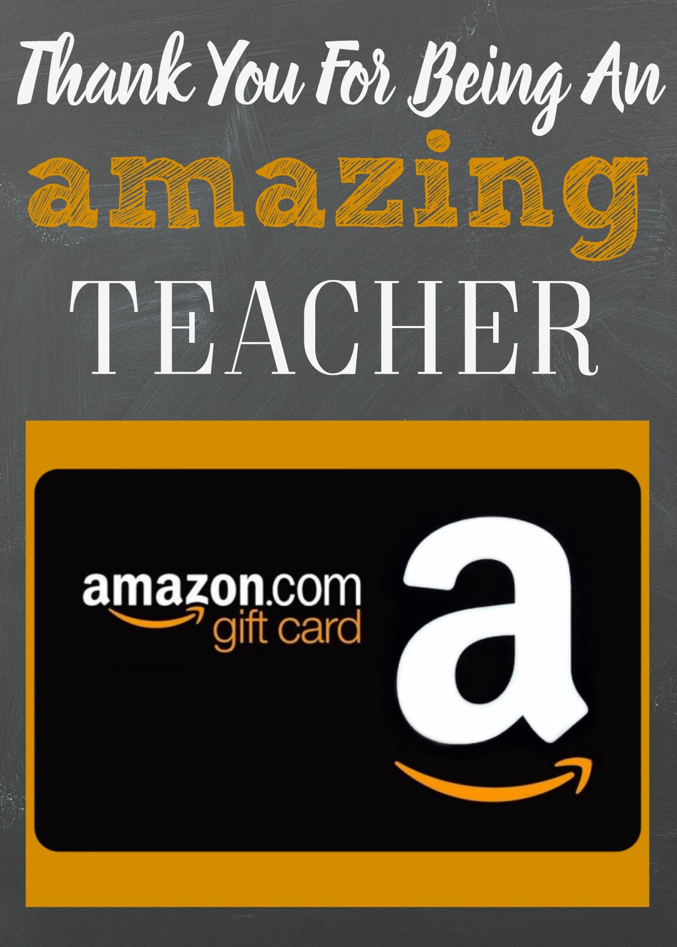 Teacher Appreciation Gift Card Holder, Amazon Gift Card Holder, Teacher Gift