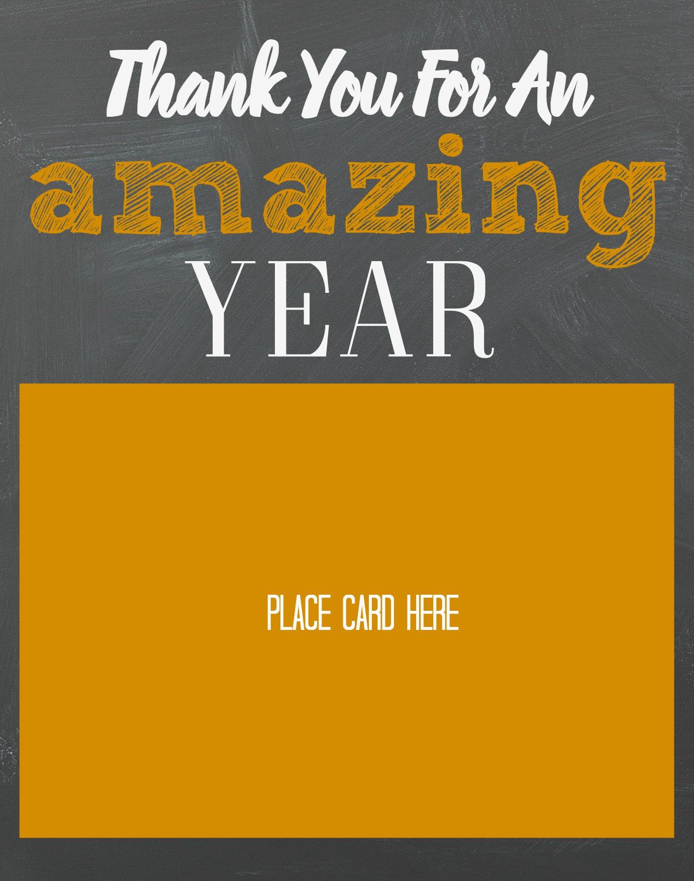 End of Year Teacher Gift- Gift Card Holder