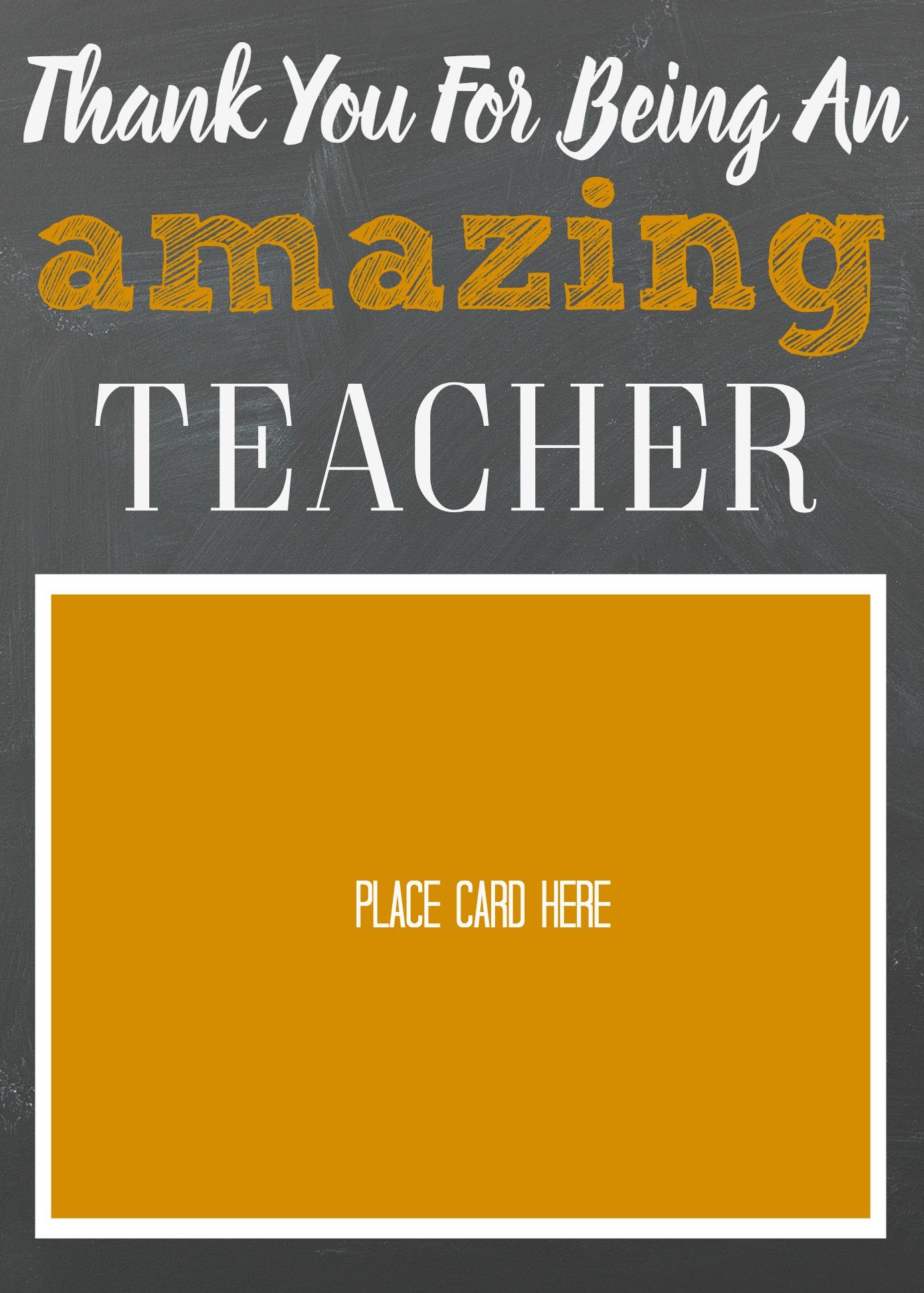 Teacher Appreciation Gift Card Holder- Amazon Gift Card Holder