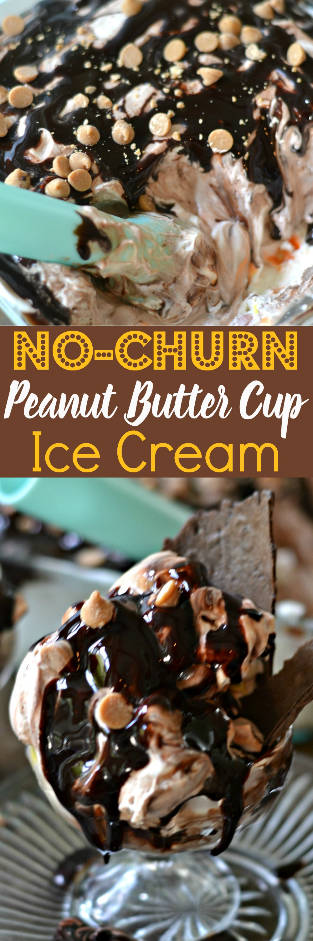 No-Churn Peanut Butter Cup Ice Cream