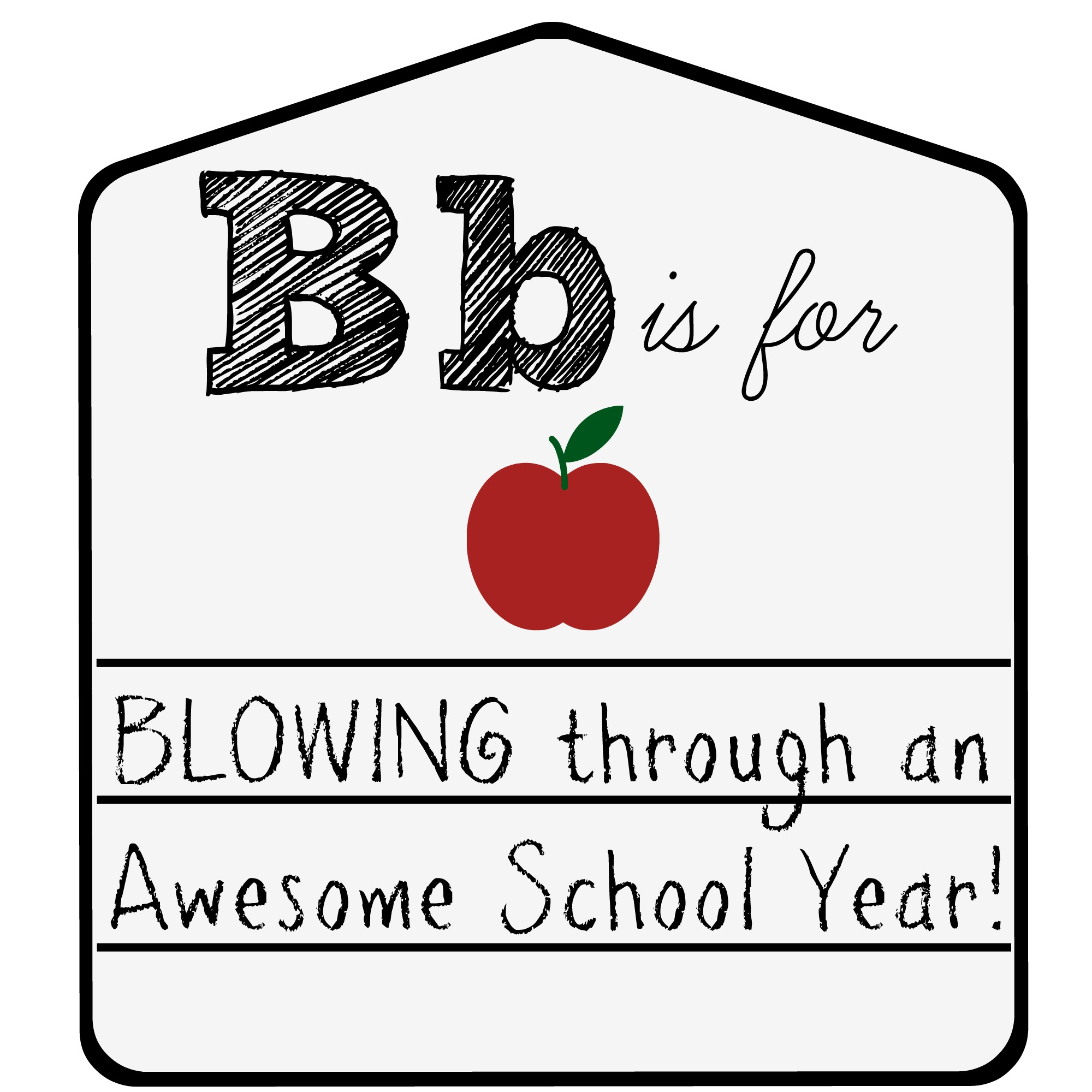 Back to school teacher gift free tag