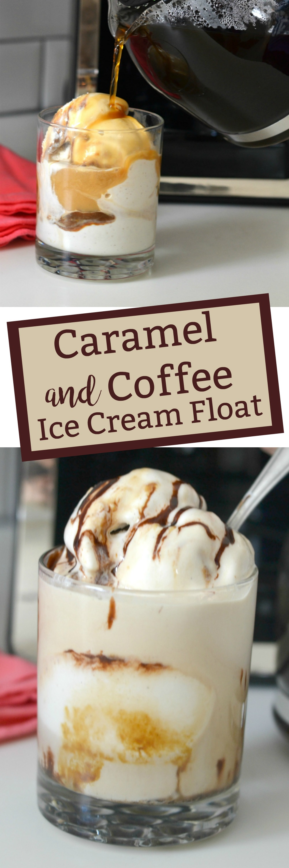 Caramel and Coffee Ice Cream Float