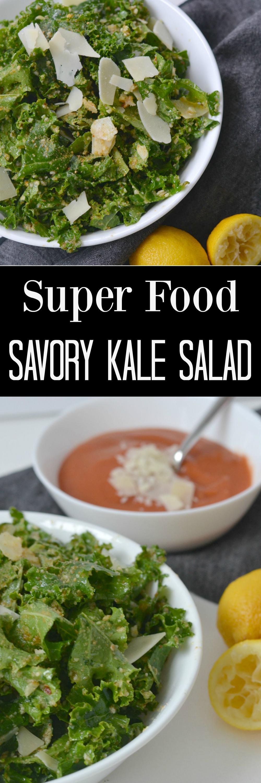 Super Food Savory Kale Salad