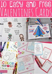 10 Easy and Free Valentines Card Printables for Kids