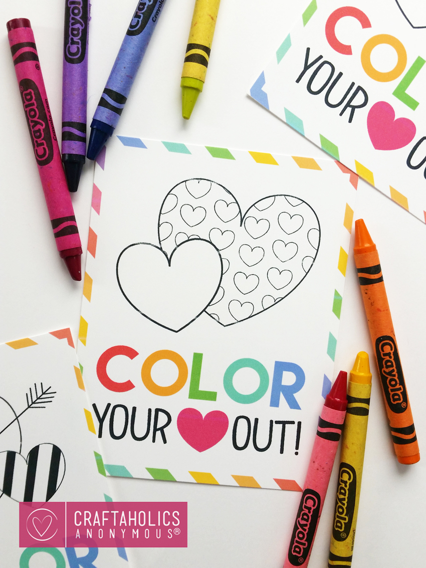 DIY Valentine with Coloring Activity