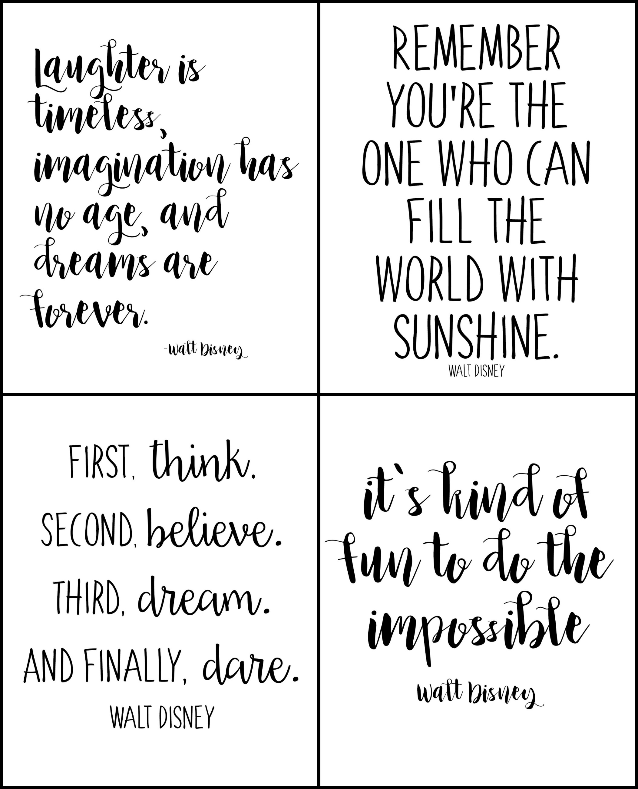 Disney Quote: Free Printable Walt Disney Quotes