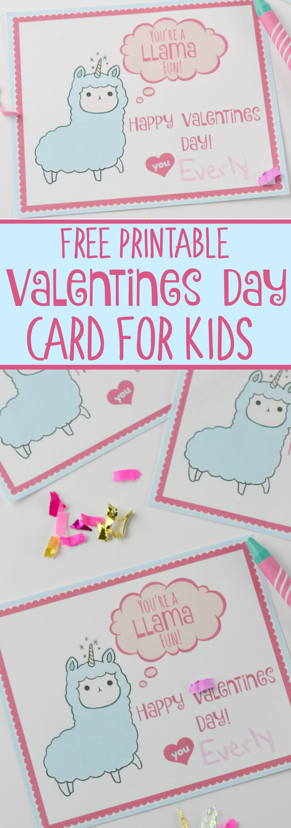 Free Printable Valentines Day Card for Kids #valentinesday #diyvalentine #diy #easy #valentine #kids #holiday