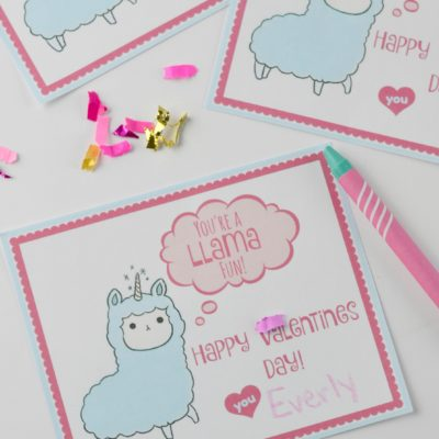 Valentines Day Card for Kids with Free Printable
