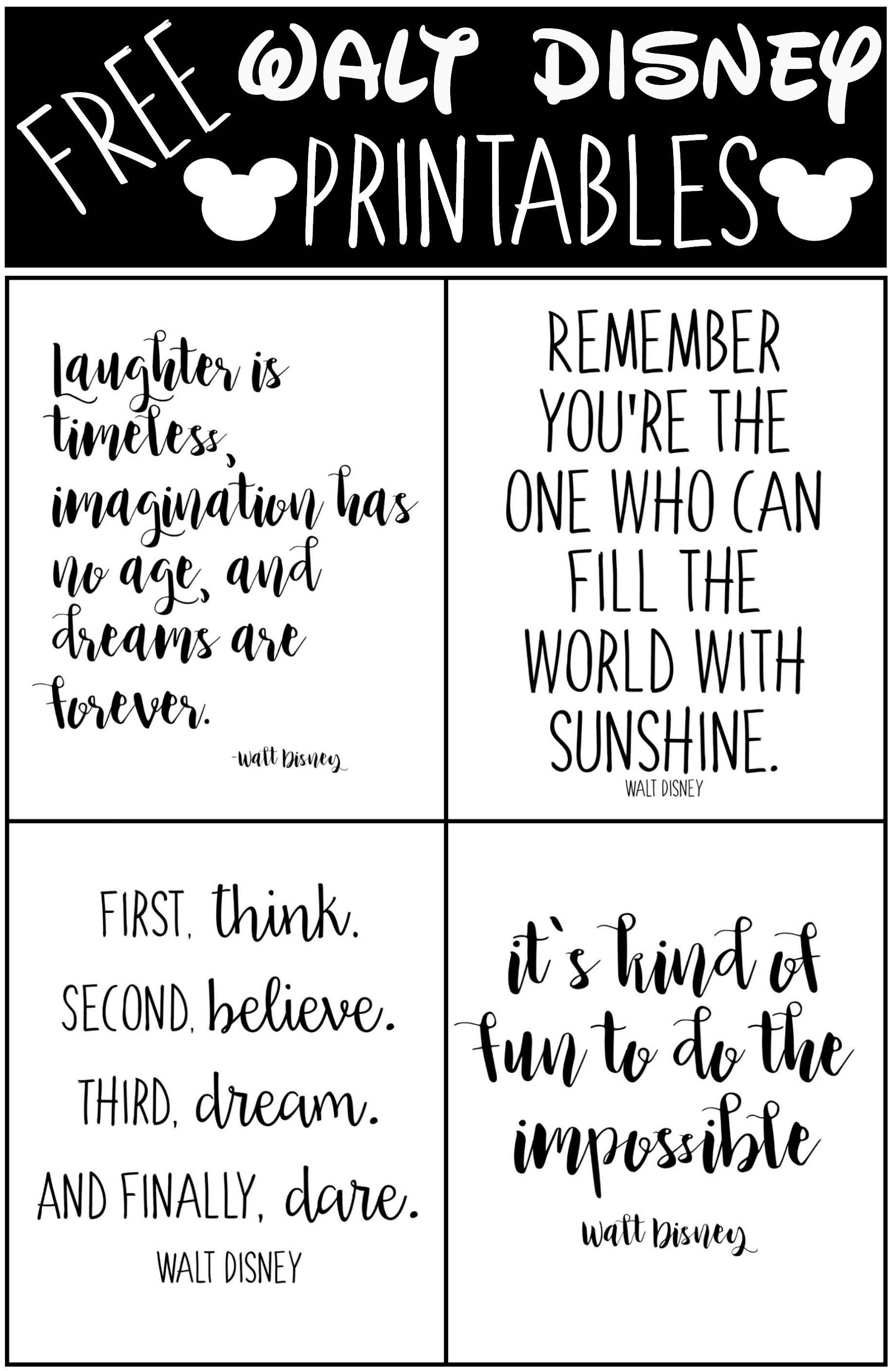 Walt Disney Quotes About Life Free Printable Walt Disney Quotes  Moms Without Answers