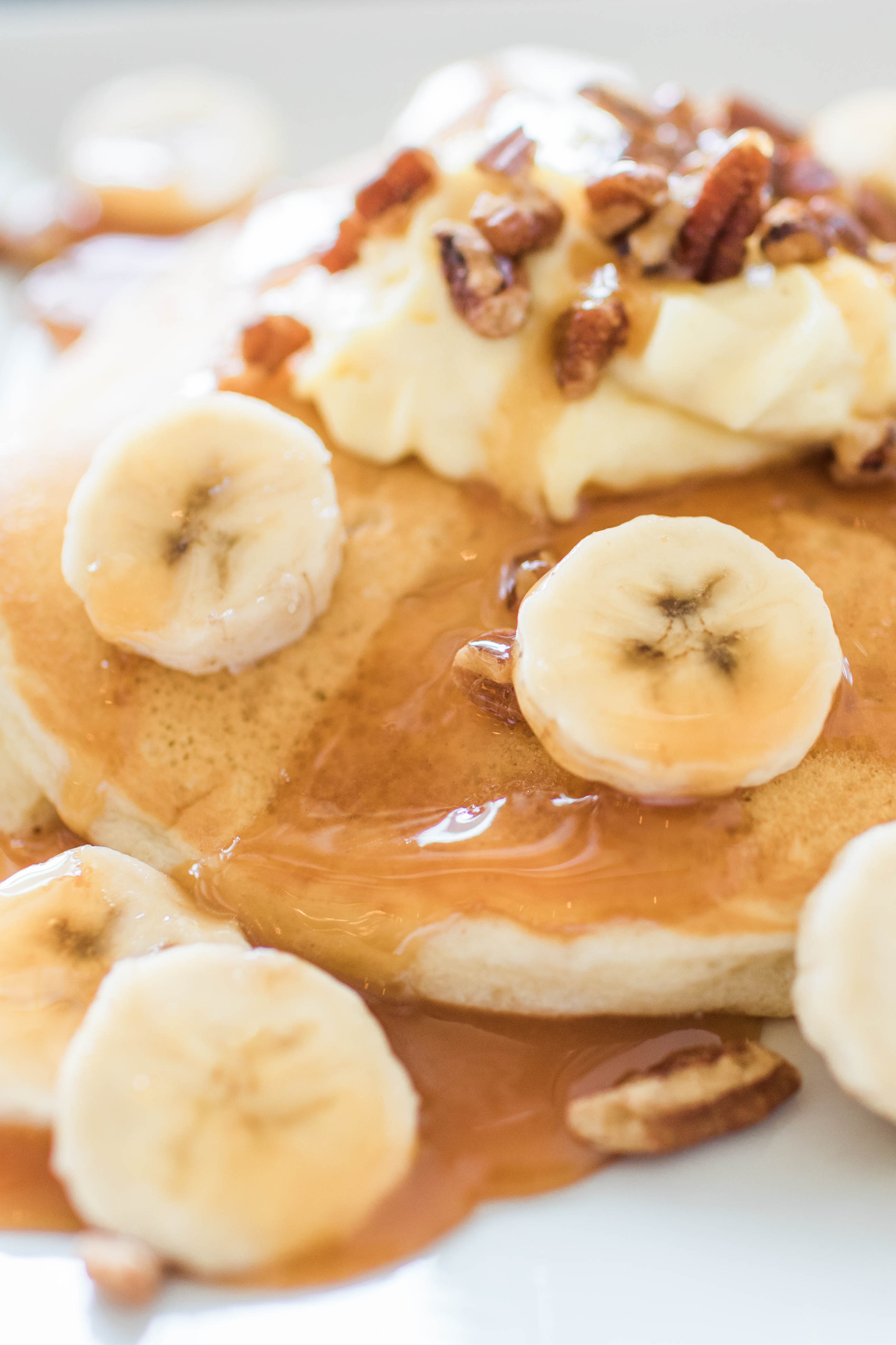 Pancakes from Disney with Bananas and whip cream